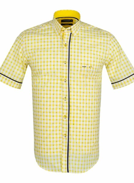 MAKROM Short Sleeved Checkhered Shirt SS 6049 YELLOW S