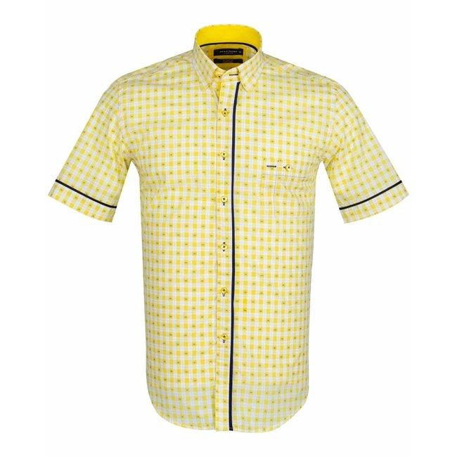 MAKROM Short Sleeved Checkhered Shirt SS 6049 YELLOW S