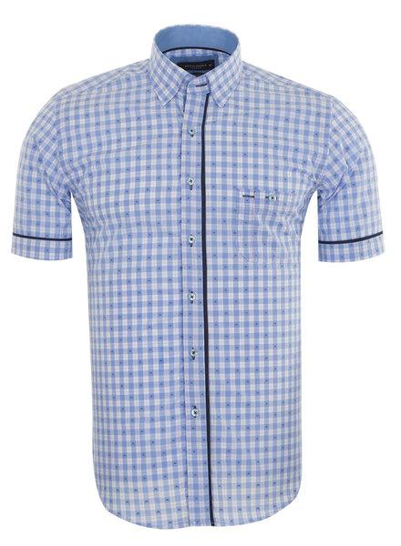 Makrom MAKROM Short Sleeved Checkhered Shirt SS 6049 BLUE S