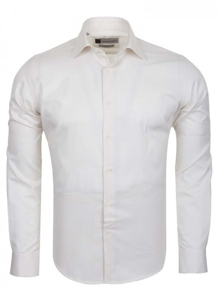 Franco Gilberto Franco Gilberto Mens Long Sleeved Shirt SL 5566 CREAM S