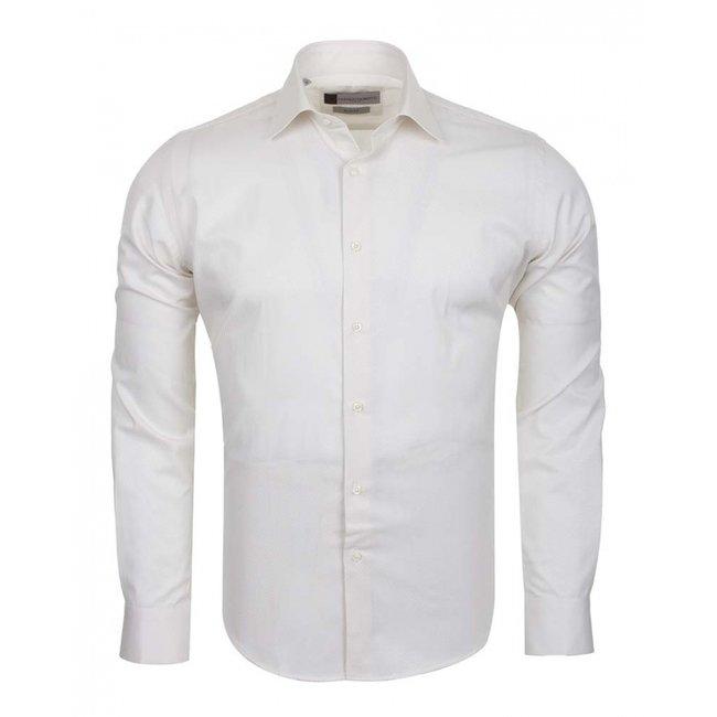 Franco Gilberto Mens Long Sleeved Shirt SL 5566 CREAM S