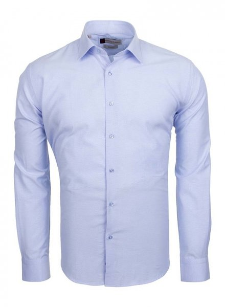Franco Gilberto Franco Gilberto Mens Long Sleeved Shirt SL 5566 BLUE S