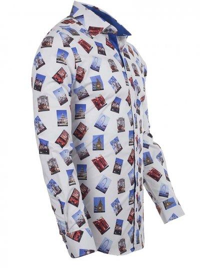 Oscar Banks London Places Printed Long Sleeved Shirt SL 5730 COLOR B S