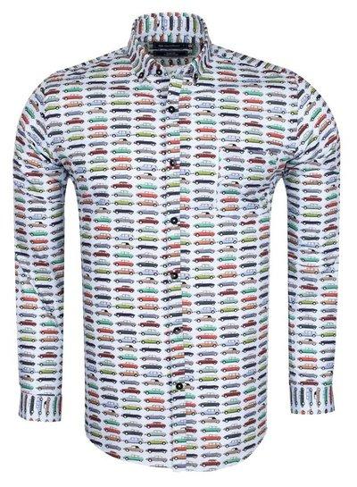 Oscar Banks Cartoon Cars Printed Long Sleeved Shirt SL 5917 COLOR D S