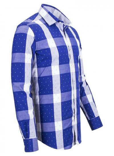 Cotton Checkhered Classical Long Sleeved Shirt SL 5990 COLOR A S