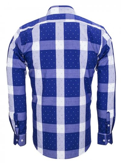 Makrom Cotton Checkhered Classical Long Sleeved Shirt SL 5990 COLOR A S