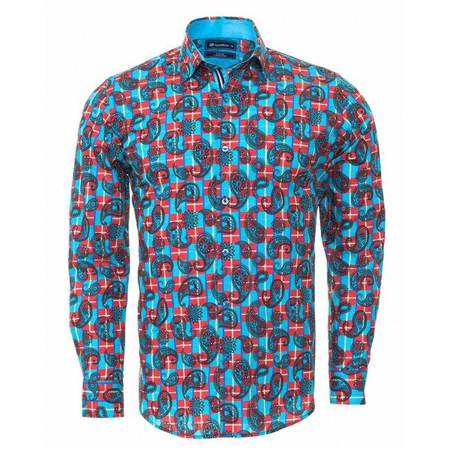 Oscar Banks Printed Long Sleeved Shirt SL 6297 COLOR B M