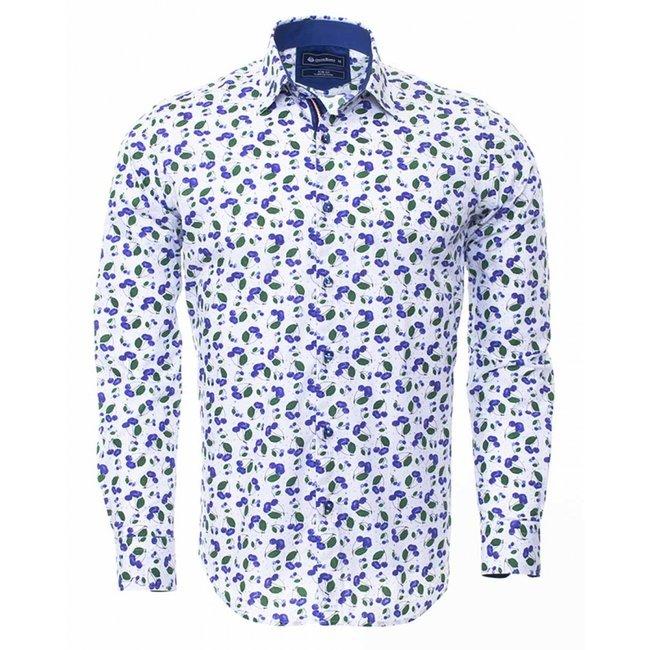 Oscar Banks Printed Long Sleeved Shirt SL 6304 COLOR J M