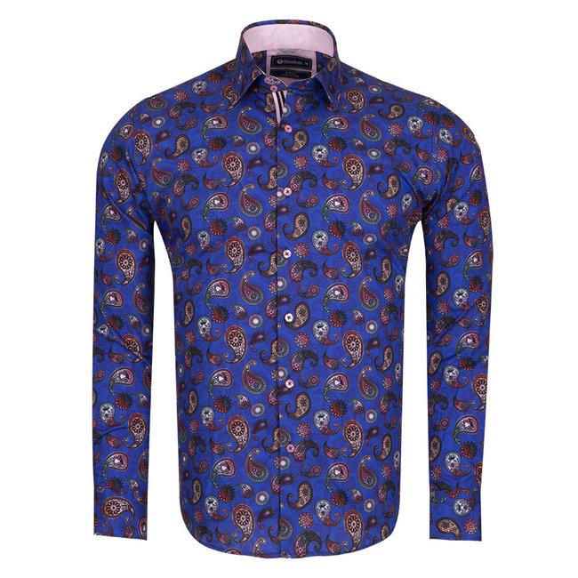 Oscar Banks Paisley Printed Long Sleeved Shirt SL 6306 COLOR L M
