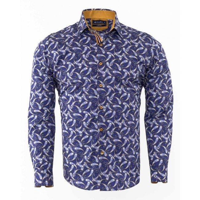 Oscar Banks Oscar Banks Paisley Printed Long Sleeved Shirt SL 6307 COLOR M M