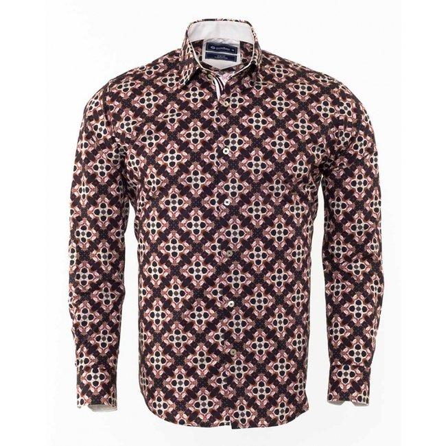 Oscar Banks Printed Long Sleeved Shirt SL 6310 COLOR Q M