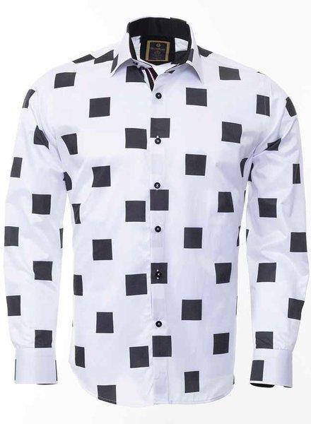 Oscar Banks Check Pattern Printed Long Sleeved Shirt SL 6312 COLOR U M