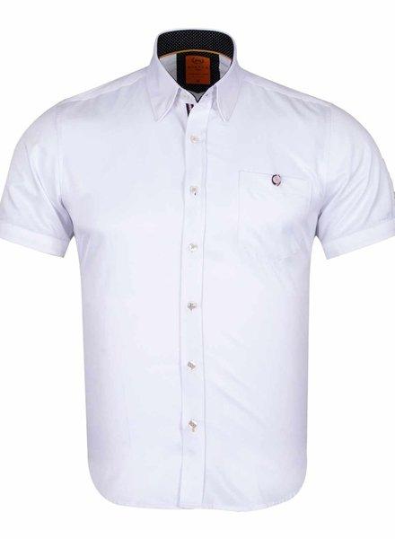 Makrom Plain Short Sleeved Shirt SS 6084 WHITE M