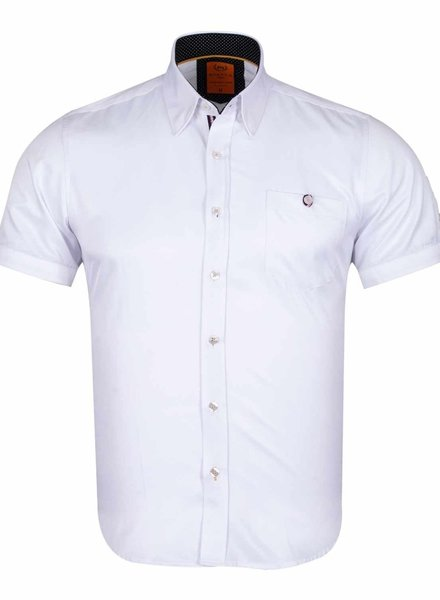 Plain Short Sleeved Shirt SS 6084 WHITE M