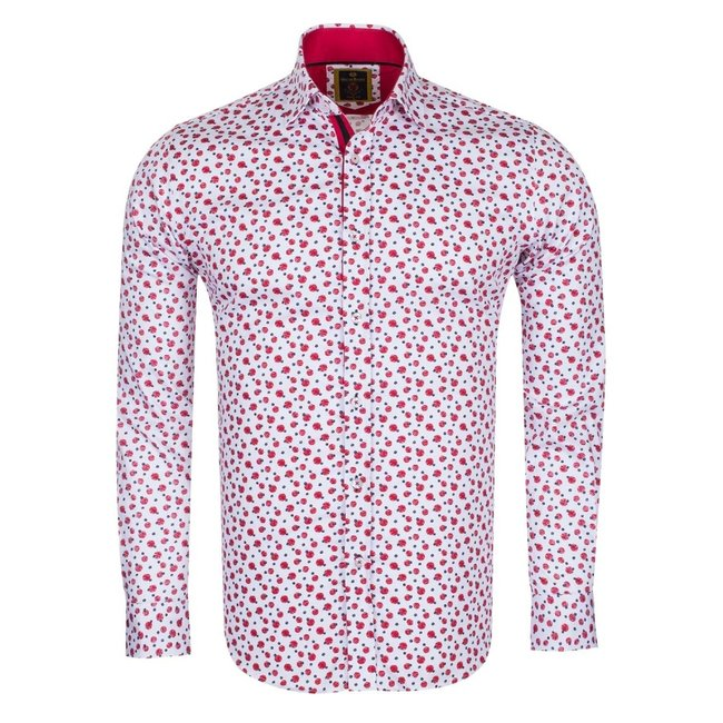 Oscar Banks Oscar Banks Cotton Printed Long Sleeved Shirt SL 6098 COLOR B S