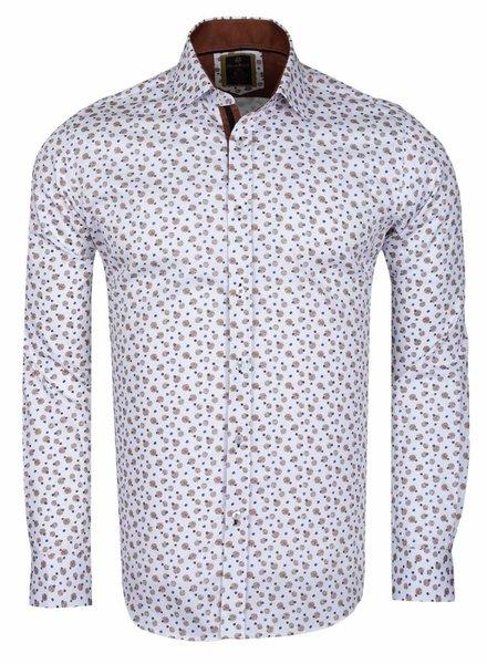 Oscar Banks Oscar Banks Cotton Printed Long Sleeved Shirt SL 6098 COLOR C S