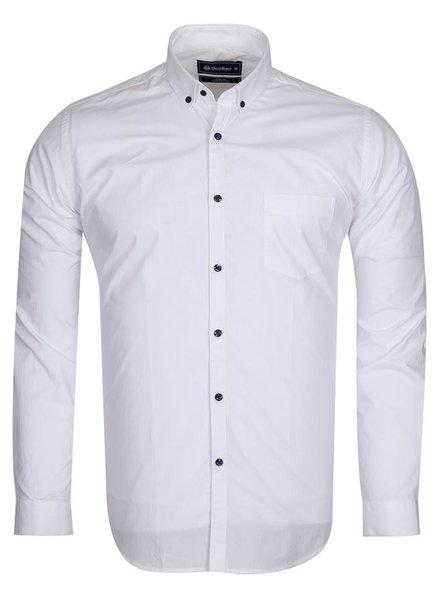 Oscar Banks Cotton Plain Long Sleeved Shirt SL 6351 WHITE 3XL