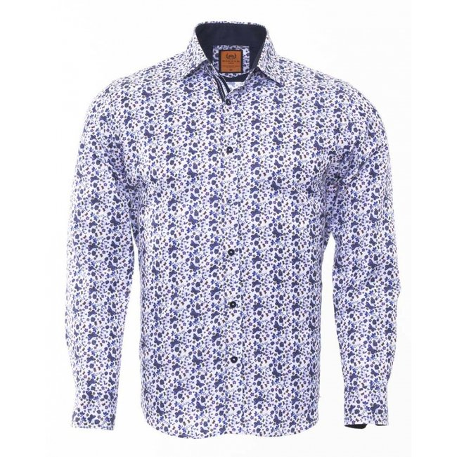 Butterfly Printed Long Sleeved ShirtSL 6476 NAVY M