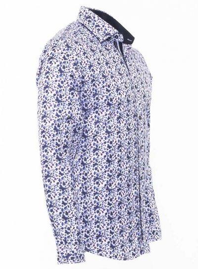 Makrom Butterfly Printed Long Sleeved ShirtSL 6476 NAVY M