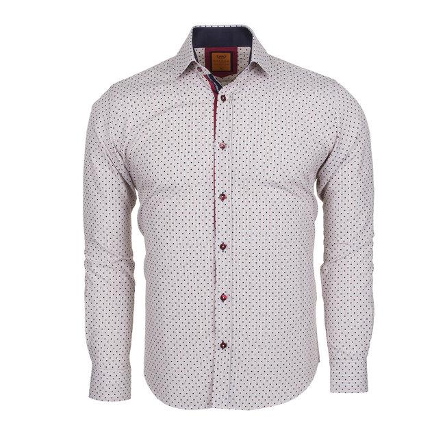 Polka Dot Printed Long Sleeved Shirt SL 5969 BROWN XL