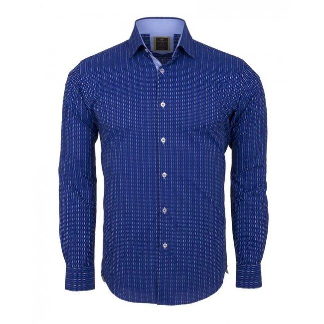 Oscar Banks Striped Long Sleeved Shirt SL 5973 COLOR A S