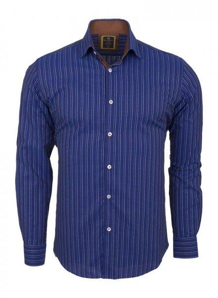 Oscar Banks Striped Long Sleeved Shirt SL 5973 COLOR B S