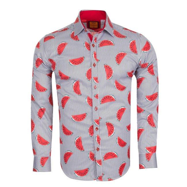 Watermelon Printed Long Sleeved Shirt SL 6554 RED M