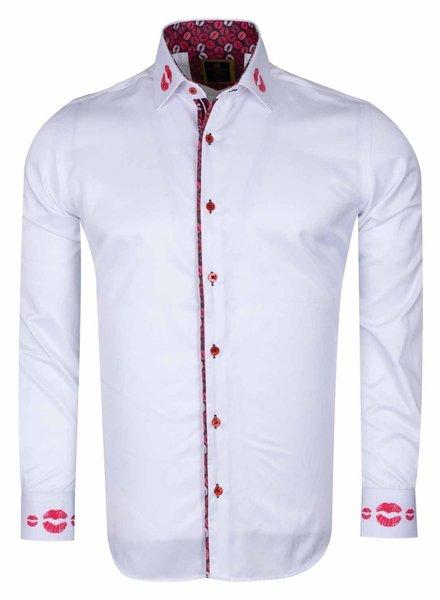 Makrom SL 6505  MAKROM  Mens Shirt WHITE 4XL