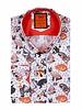Cats Printed Long Sleeved Shirt SL 6565 ORANGE S