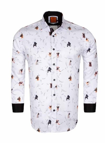 Dogs Printed Long Sleeved Shirt SL 6566 CREAM S