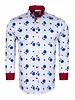 Blue Floral Printed Long Sleeved Shirt SL 6578 WHITE 3XL
