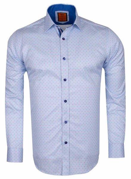 Makrom MAKROM Polka Dot Print Long Sleeved Shirt SL 6586 SAX S