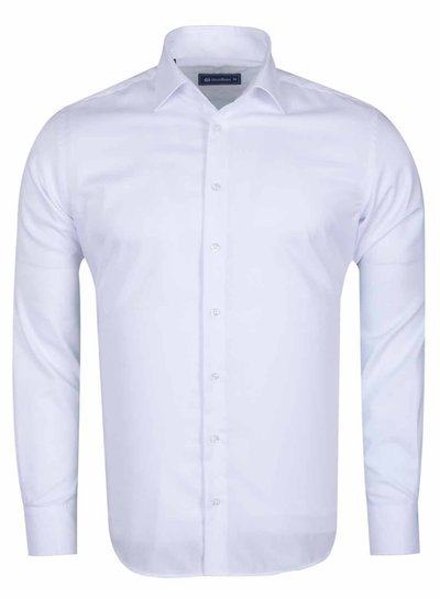 Oscar Banks Long Sleeved Classical Cotton Shirt SL 6418 WHITE S