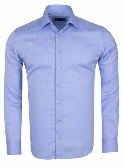 Oscar Banks Long Sleeved Classical Cotton Shirt SL 6418 BLUE S