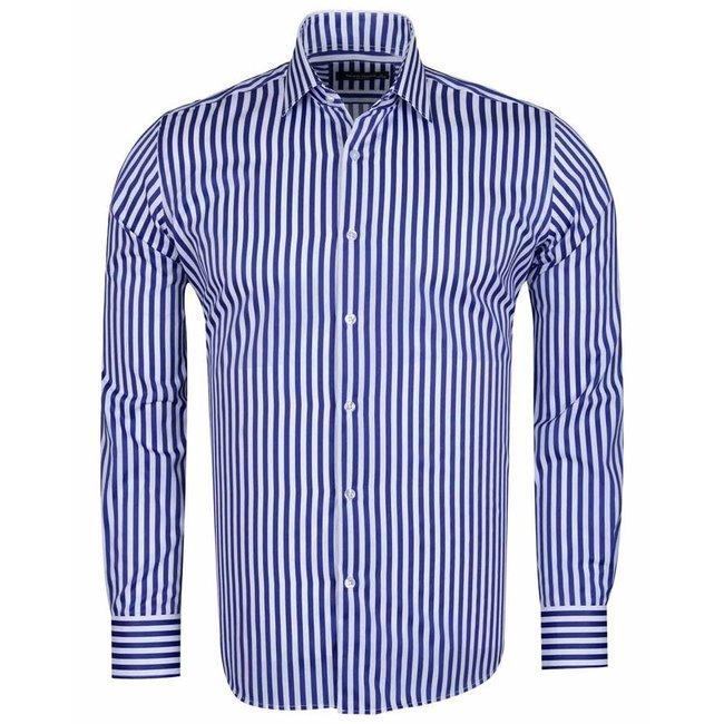 MAKROM Long Sleeved Striped Shirt SL 6620 ROYAL BLUE 3XL