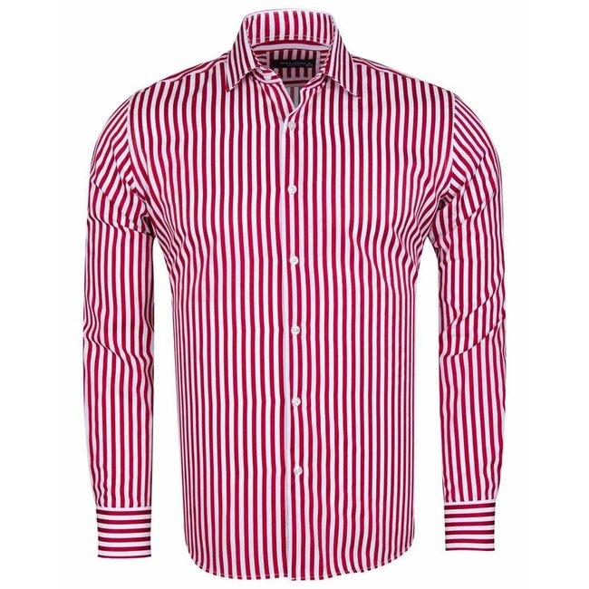 MAKROM Long Sleeved Striped Shirt SL 6620 RED S