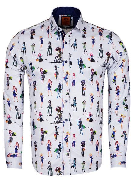 Makrom Girl Printed Long Sleeved Shirt SL 6659 DARK BLUE 3XL