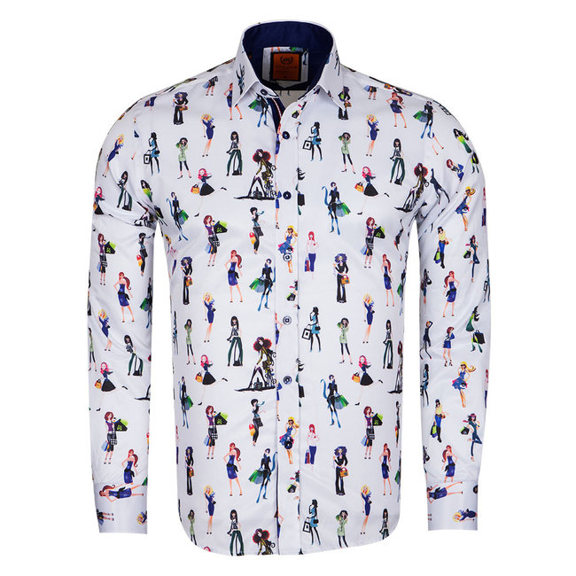 Girl Printed Long Sleeved Shirt SL 6659 DARK BLUE 3XL