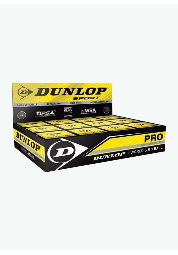 Dunlop Pro Squash Ball (double yellow dot) - Box of 12