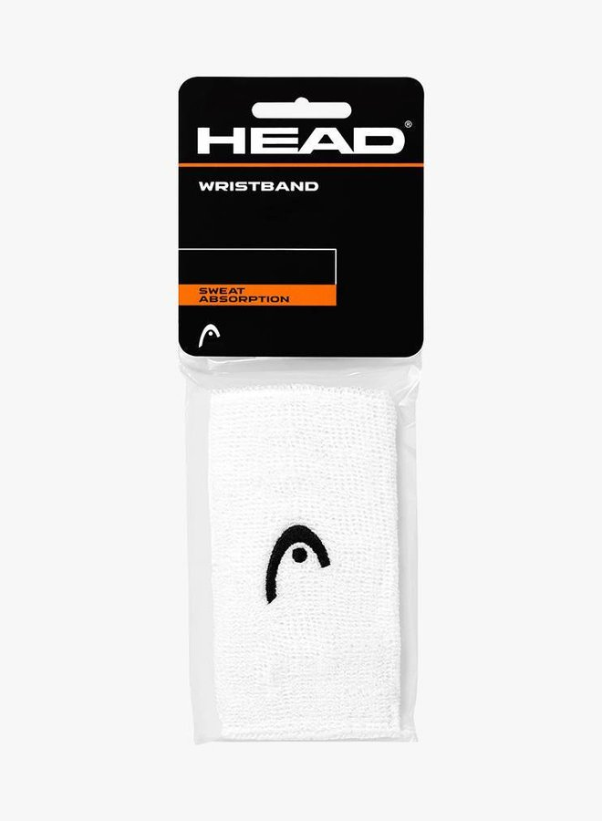 "Head Wristband 5"" - 2 Pack - White"
