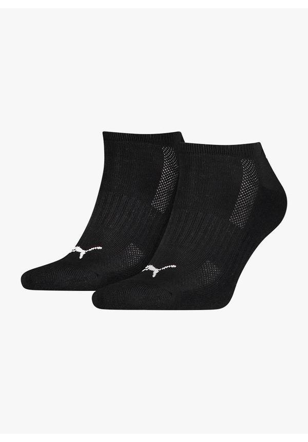 Puma Cushioned Sneaker Socks - 2 Pack - Black
