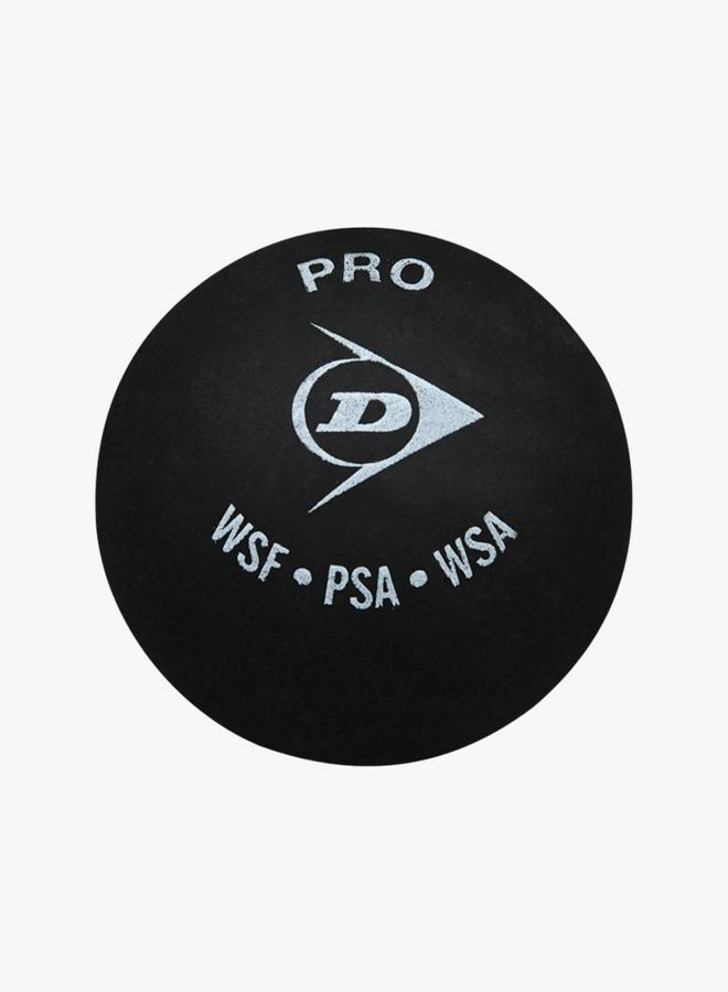 Dunlop Pro Squash Ball (double yellow dot) - 3 Pack
