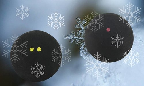 The right squash ball for the cold winter days