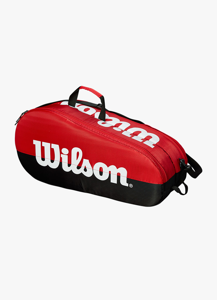 Wilson Team 1 Compartment 3 Pack Bag Badminton Squash for Tennis Red//Black