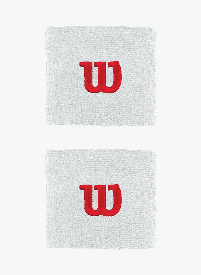 Wilson 'W' Wristband - 2 Pack - White