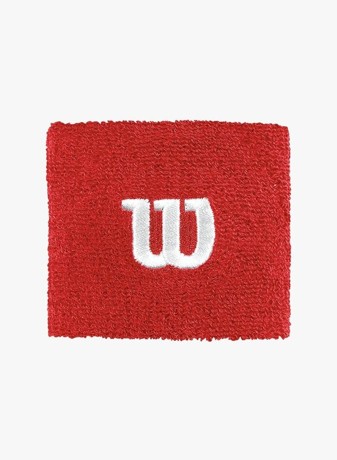 Wilson 'W' Wristband - 2 Pack  - Red