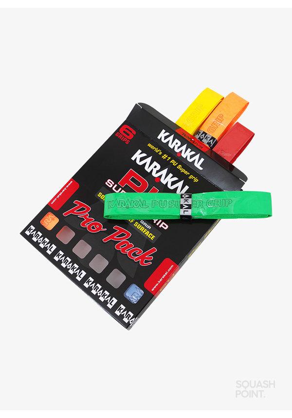 Karakal PU Super Grip Assorted Pro Pack - 6 Pack
