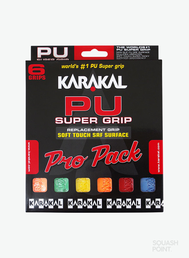 Karakal PU Super Grip Assorted Pro Pack - 6 Pack