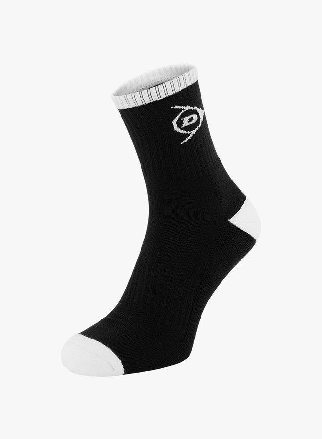 Dunlop Men's Performance Socks - 2 Pack - Black / White