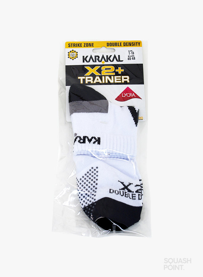 Karakal X2+ Mens Technical Trainer Socks - White /  Black